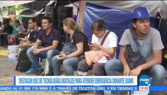 Tecnologías apoyan concentración de datos tras sismo del 19 de septiembre