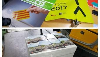 Policía de España confisca material a favor de referéndum en Cataluña