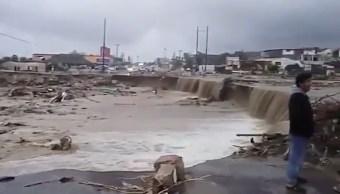 los cabos estan afectados por la tormenta lidia