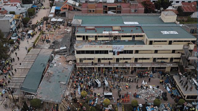 Al menos 21 niños y cuatro adultos perdieron la vida en la escuela Enrique Rébsamen