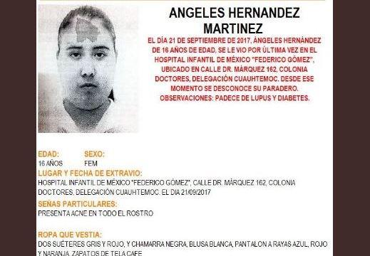 Activan Alerta Amber para localizar a menor extraviada en la Cuauhtémoc