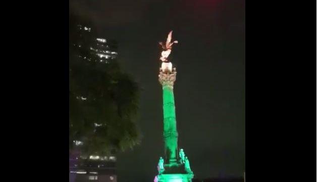 Ángel de la Indenpendencia se sacude por sismo en la CDMX
