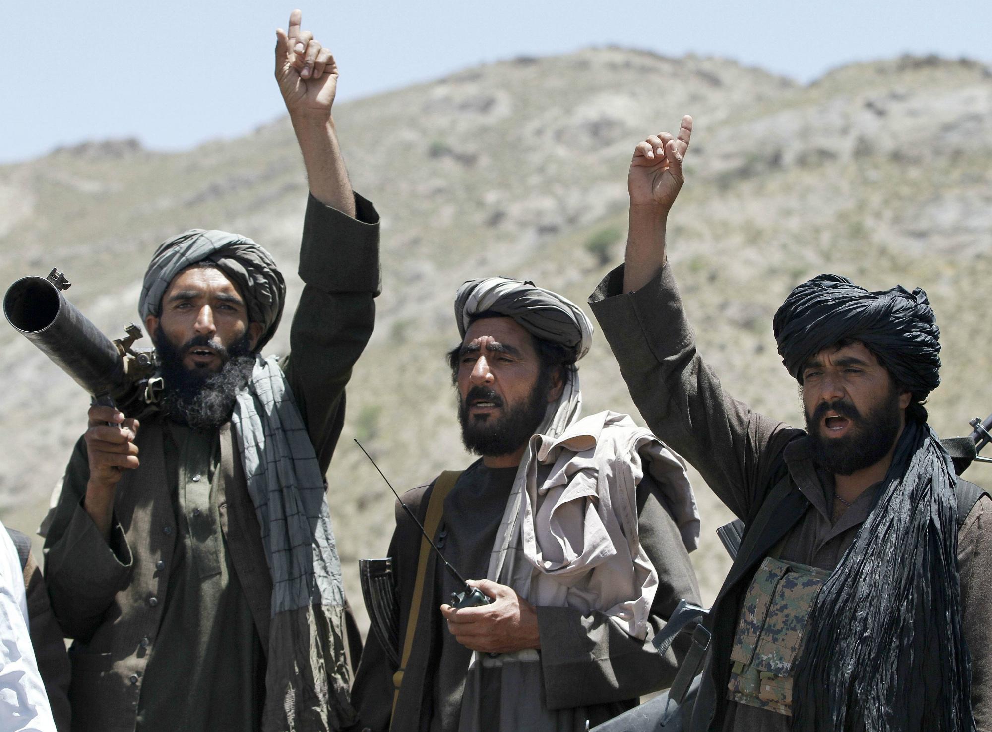 Milicianos talibanes en Afganistán