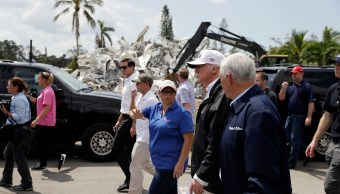 Trump se compromete a ayudar Florida tras visitar zona devastada por 'Irma'