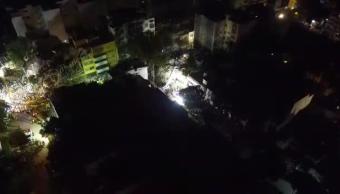 Así transcurre la noche en la CDMX, tras sismo