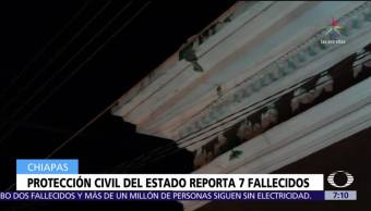 Autoridades de Chiapas reportan siete muertos tras sismo