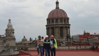 Autoridades de la Secretaría de Cultura revisan afectaciones en la Catedral Metropolitana tras sismo