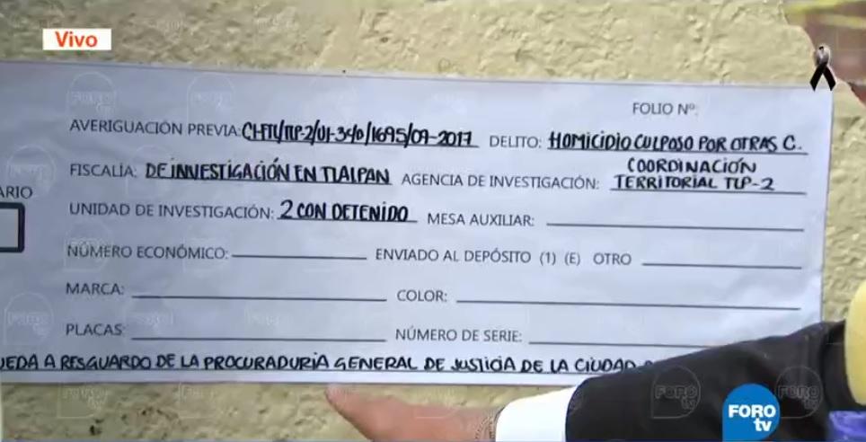 Investigan homicidio culposo Colegio Rebsamen CDMX