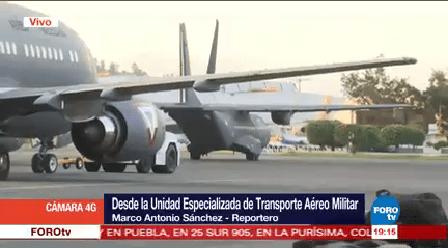 Aviones Ejército Salen Víveres Damnificados Sismo Sedena Chiapas Oaxaca