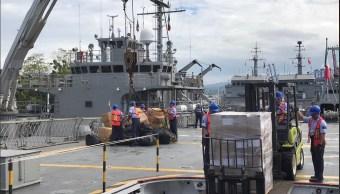 Buque Usumacinta sale de Manzanillo con ayuda humanitaria