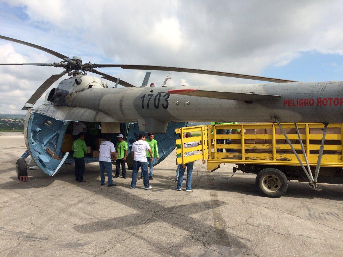 Cae helicóptero con ayuda humanitaria para Chiapas
