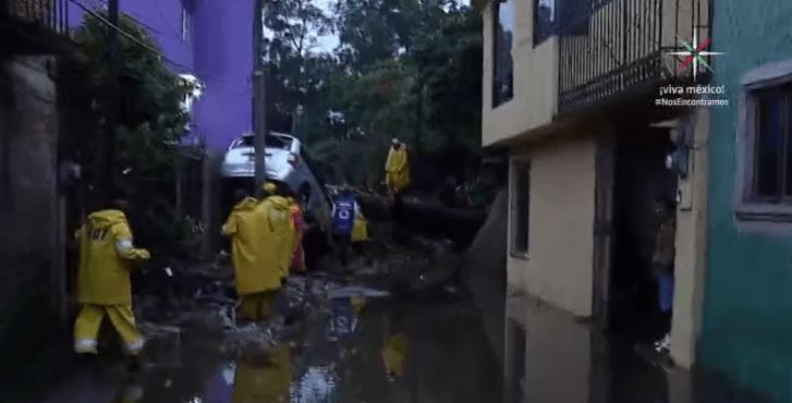 Casas afectadas en Xochimilco, CDMX, por inundación y desbordamiento del río