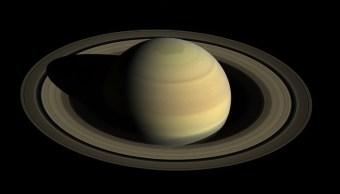 Imagen de la sombra de Saturno en sus anillos desde Cassini