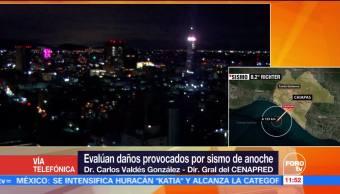 Cenapred evalúa daños tras sismo con epicentro en las costas de Chiapas