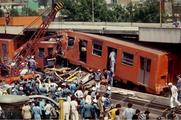 Choque de dos trenes del Metro en 1975