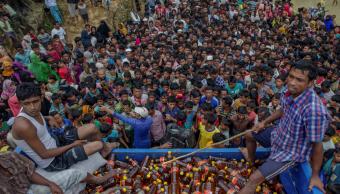 Musulmanes de la etnia rohinya en Bangladesgh
