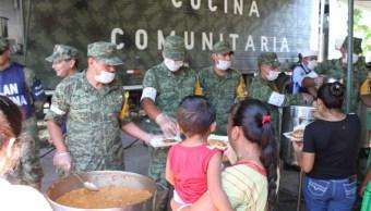 fuerzas armadas instalan cocinas comunitarias oaxaca
