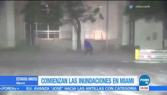 Comienzan Inundaciones Miami Paso Irma