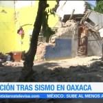 Continúa el recuento de daños en Oaxaca tras sismo del jueves