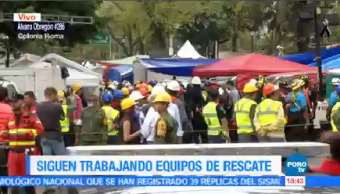 Continúan Labores Rescate Edifico Álvaro Obregón