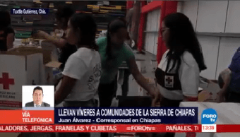 Cruz Roja Traslada Víveres Damnificados Sismo Chiapas