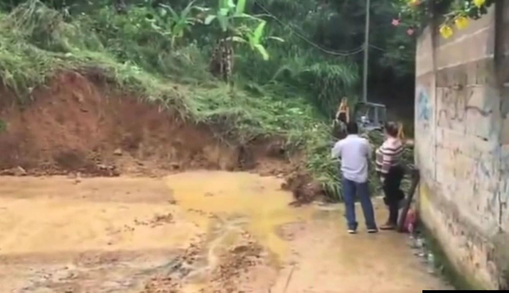 Damnificados por sismo y el huracán Katia en Veracruz