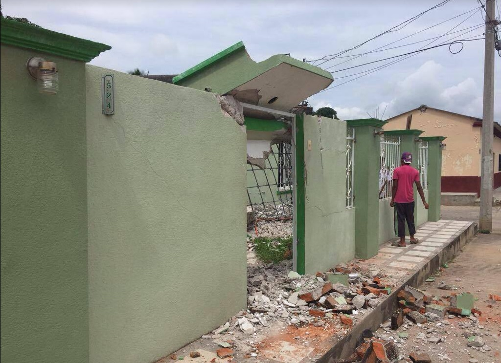 Afectados por el sismo en Chiapas