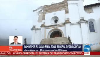 Daños Sismo Zona Indígena Zinacantán Juan Álvarez Chiapas