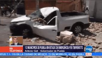 Declaran 112 Municipios Estado Emergencia Sismo Puebla