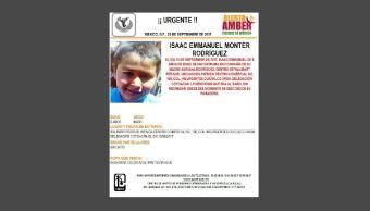 Desactivan Alerta Ámber de Isaac Emmanuel Monter Rodríguez