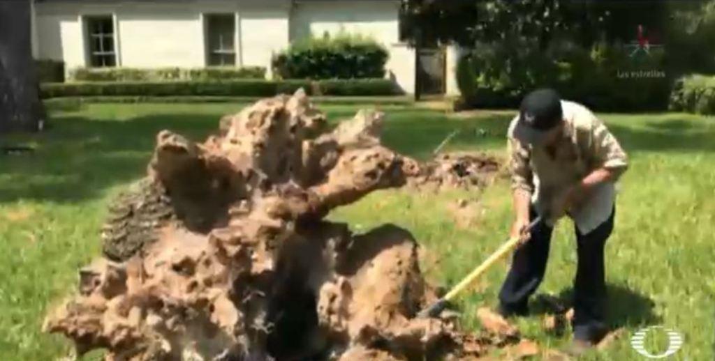 Don Jacinto cobra 10 dólares la hora durante las obras de reconstrucción en Texas