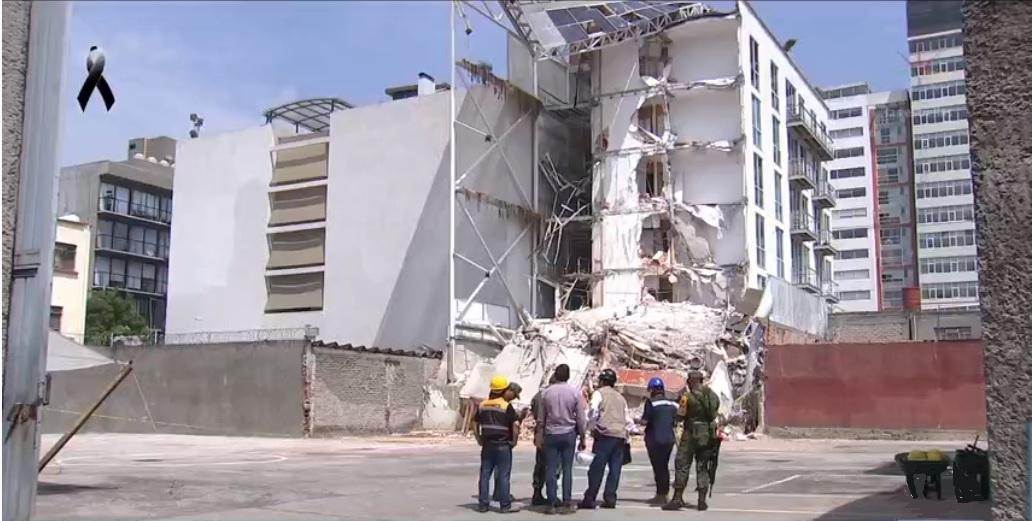 edificio nuevo colapsado en la delegacion benito juarez