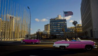 Edificio de la embajada de Estados Unidos en Cuba