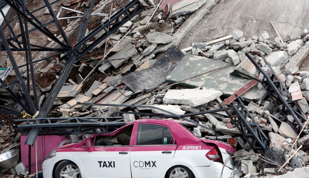 Edificio derrumbado por sismo en la CDMX
