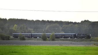 El choque del tren y el camión blindado se produjo cerca de Trosa