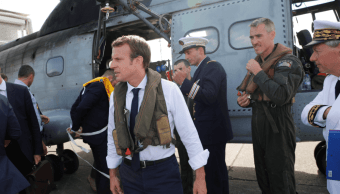 Emmanuel Macron llegó a las Antillas francesas, afectadas por 'Irma'
