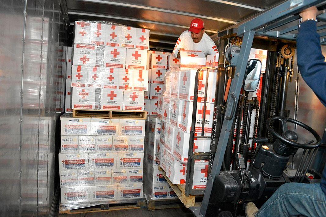 Envía Cruz Roja Mexicana 26 toneladas de ayuda humanitaria a BCS