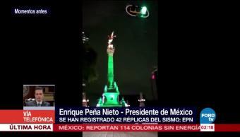 EPN evalúa daños en el país tras sismo