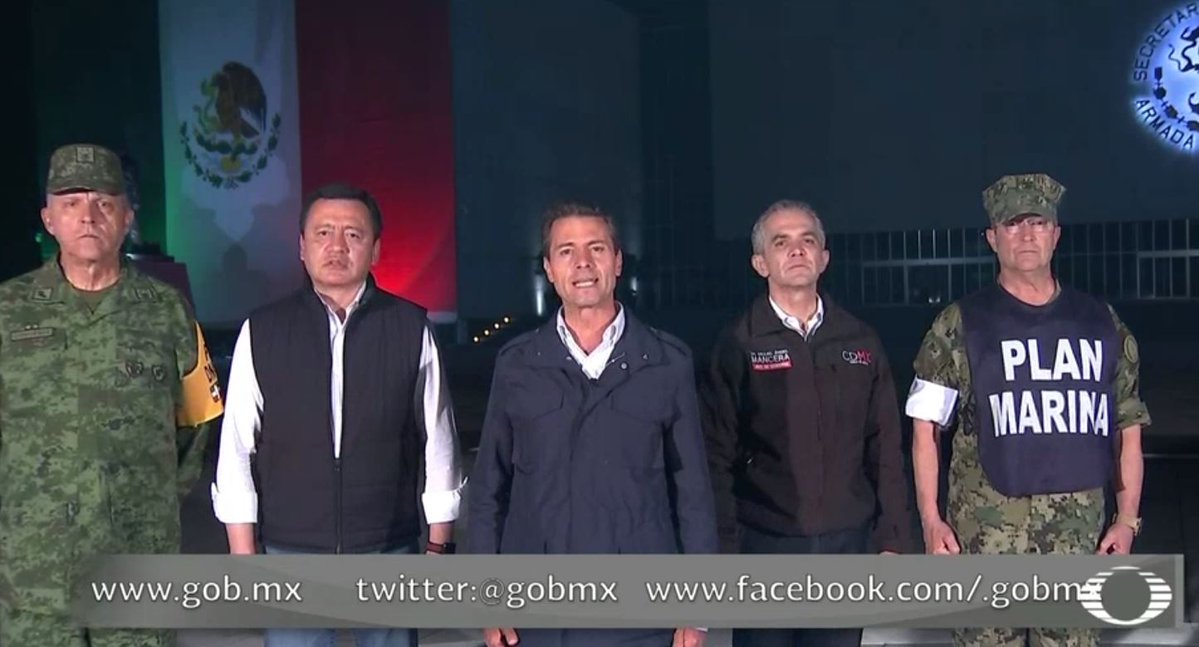 No se detienen las labores de rescate — Enrique Peña Nieto