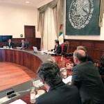 reunion gabinete evalua avances poblacion sismo