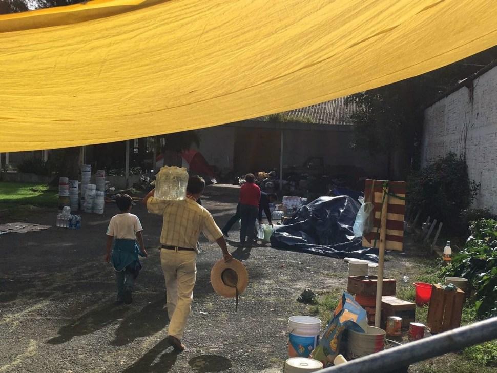 El centro de acopio ubicado en Xochimilco