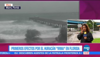 Florida Siente Efectos Llegada Irma Adriana Valasis