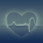 Gráfica de un corazón con linea de electrocardiograma