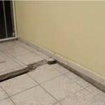 sismo provoca grietas en la colonia 24 de octubre