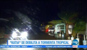 Huracán Katia Debilita Tormenta Tropical Categoría 1 Veracruz