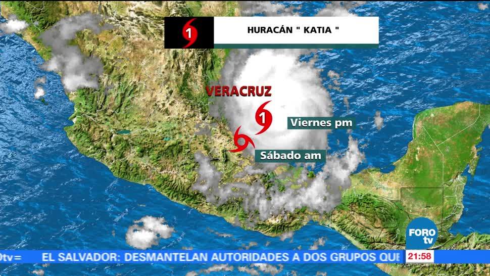 Huracán 'Katia' toca tierra en costas veracruzanas