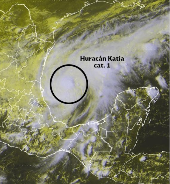 Prevén que huracán Katia alcance categoría 2 el viernes
