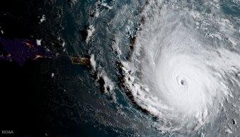 Imagen satelital del huracán 'Irma' sobre el Caribe