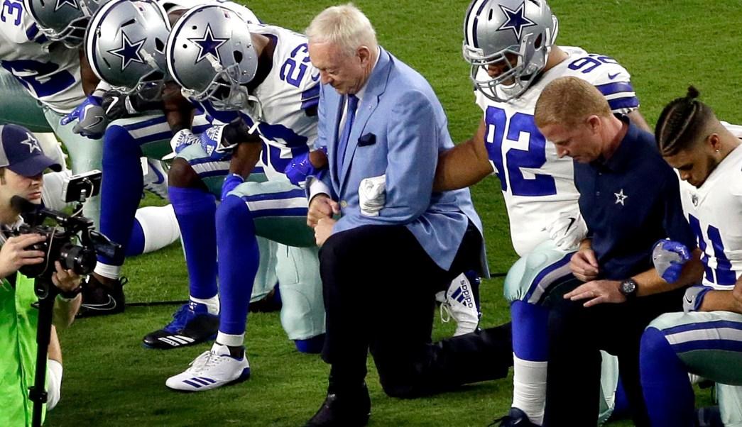 Jerry Jones asegura que su protesta será ejemplo NFL