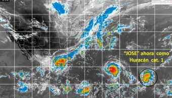Tormenta tropical Jose evoluciona huracan categoria 1